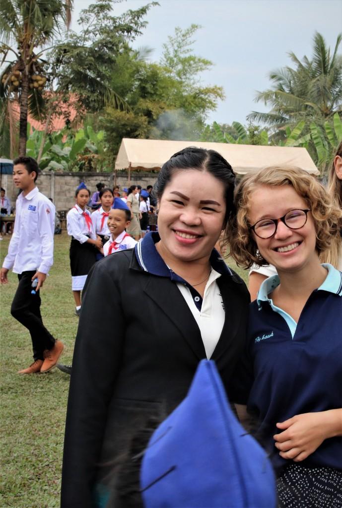 Ms Bounpheng and her tandem-teacher Lea Herrmann (Team V)