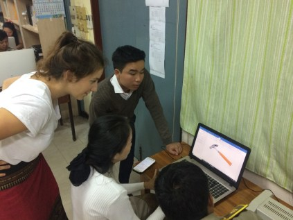 Participants work with Microsoft Word