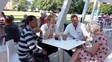 Mr. Khamsing Nanthavongdouangsy, Johannes Zeck, Christian Engel and Elke Sieber...