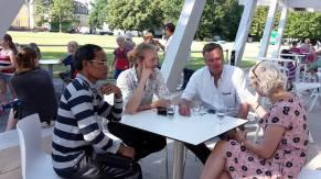 Mr. Khamsing Nanthavongdouangsy, Johannes Zeck, Christian Engel and Elke Sieber