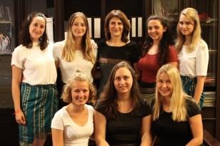 Marie, Lara, Prof. Martin, Hanna, Jessica; Lea, Rebecca, Veronika