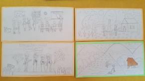 Some children draw outlines
