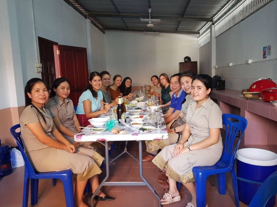 Dinner with some of the Lao teachers and the director