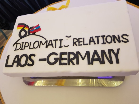 Birthday cake for the 60-year-anniversary of diplomatic relations!
