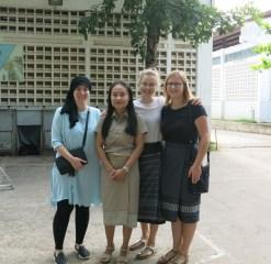 Dilara, Ms Moukdala, Patricia and Nicole on Teachers' Day