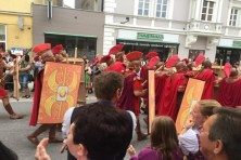 Re-enactment of Roman history in Southern Germany