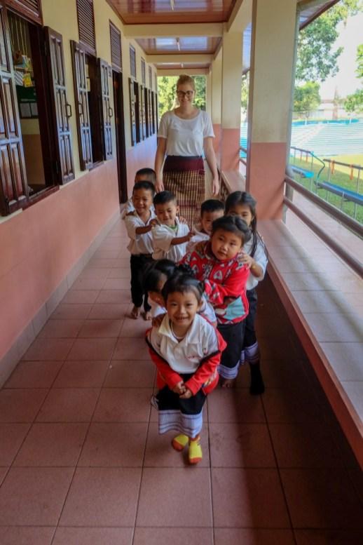 The Mopsies with teacher Anja