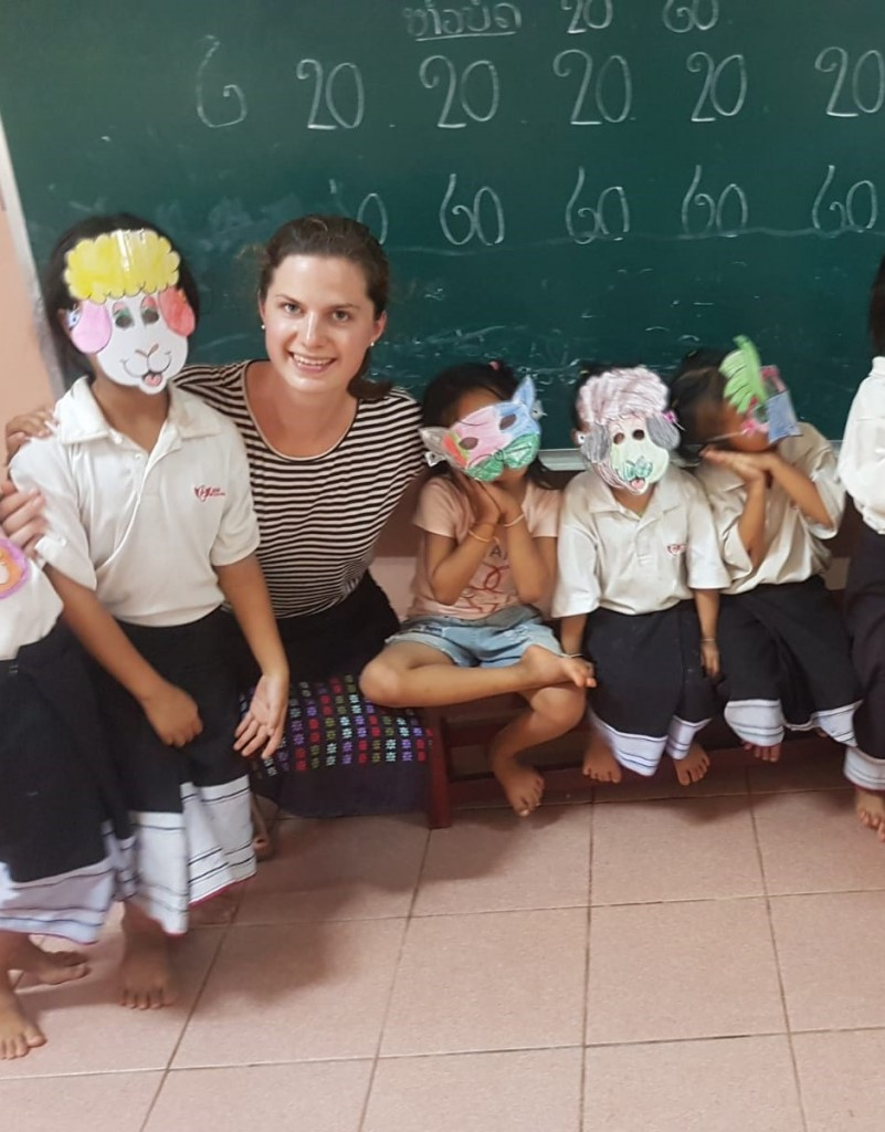 """Teacher Natalie"" and pupils during Activity Time ""Reading Club"" in a follow-up role play"