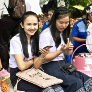 Students on Teachers' Day, LGTC, Vientiane