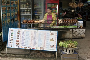 Street seller near Kuang Si Falls, Luang Prabang