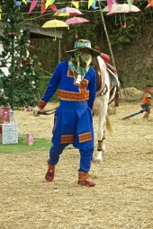 Man in traditional Hmong costume