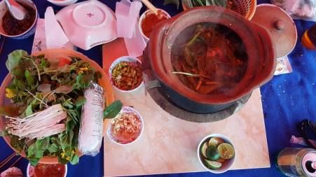 Hot-pot dinner at the night market
