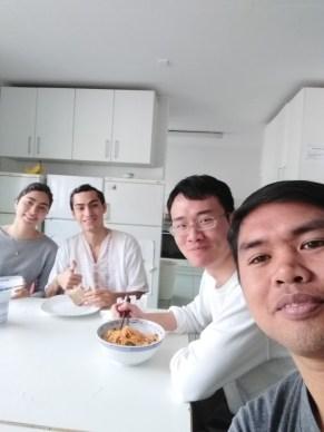 Sharing kitchen with flatmates