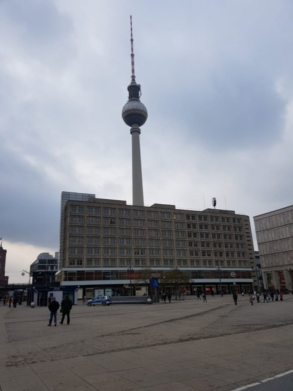 """The """"Alexanderplatz"""" - a famous place for shopping and known for its """"Fernsehturm"""" (TV tower)"""