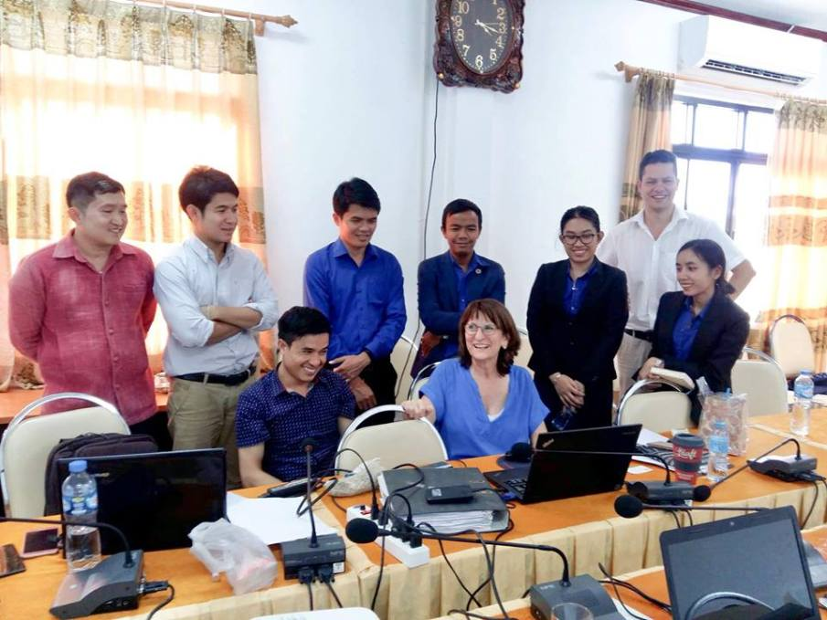 Dr Isabel with her group of researchers from the English Department and Dr Remmele and me