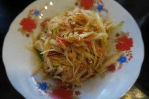 ... spicy Papaya Salad