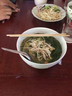 ... my favourite dish in Laos, noodle soup