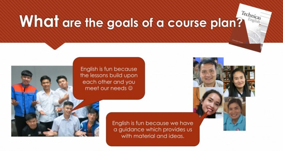 Goals of the course plan (workshop slide)