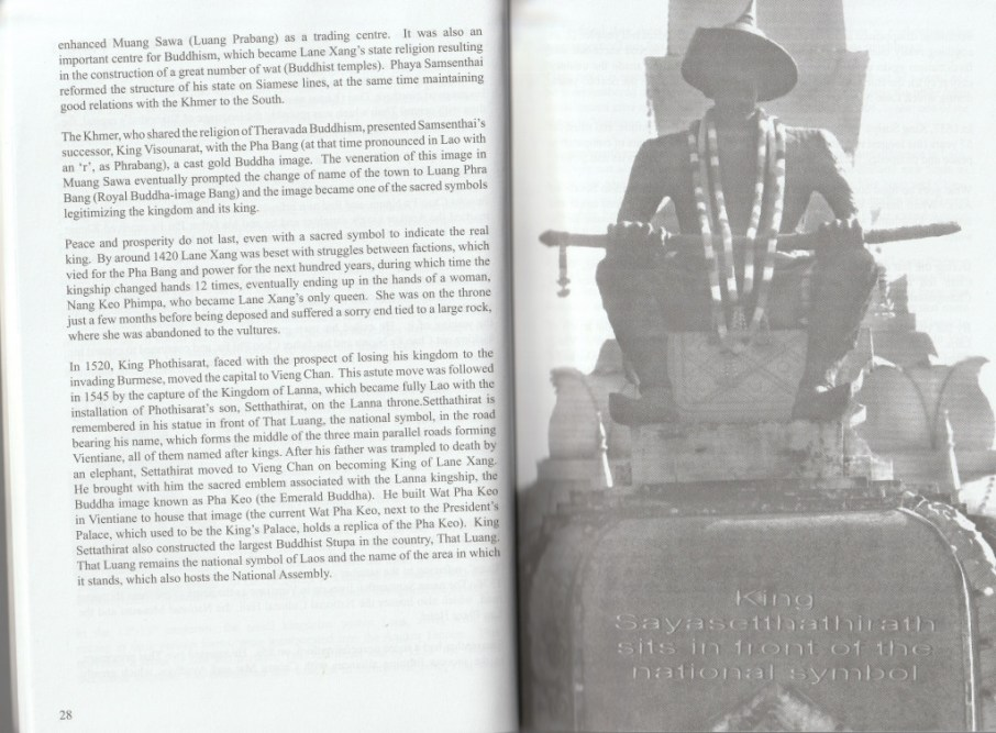 """Section detailing the history of Laos - excerpt from """"The Lao, Laos... and You"""", © 2008 Robert Cooper"""