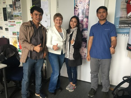 Mr Napha Khothphouthone, Ms Beate Pinisch, Ms Viengvilaiphone Botthoulath and Mr Thaithanawanh Keokaisone (f.l.t.r.)