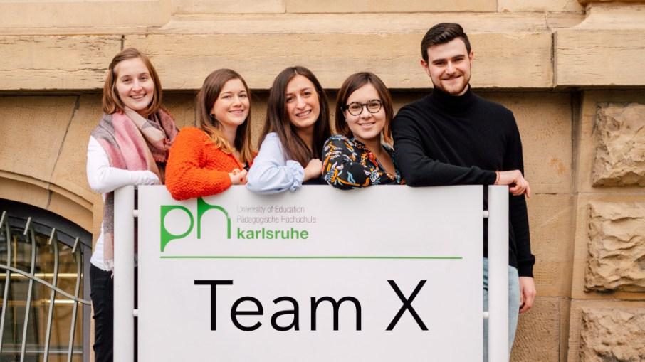 Members of Team X: Lena Koch, Chelsea Hog, Christine Blersch, Celine Victoria Seeger, Morten Bilger