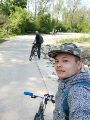 Rode around the forest of Eggenstein-Leopoldshafen