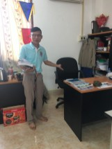 "... Mr Khonkham in the ""English Office"""