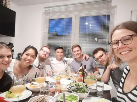 Dinner at Phi Ha and Leonard house
