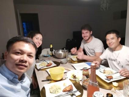... typical German food at Shirin's house...