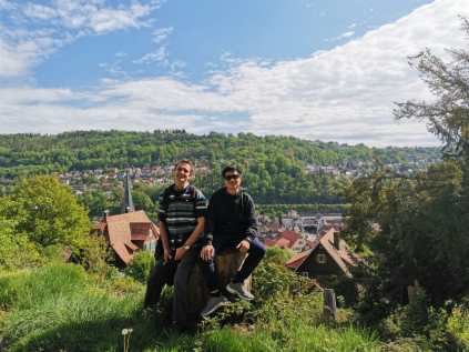 Hiking trip in Calw town with Martin