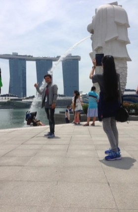 Student Tour in Marina Bay Sands of Singapore...