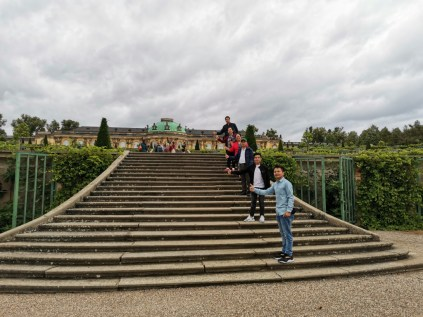 The stairs to the Castle