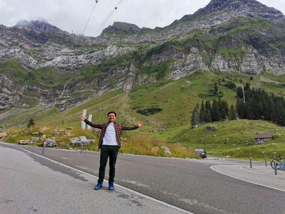 Foothills of Santis mountain in Switzerland