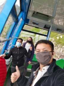 Ride the cable car line with co-travelers
