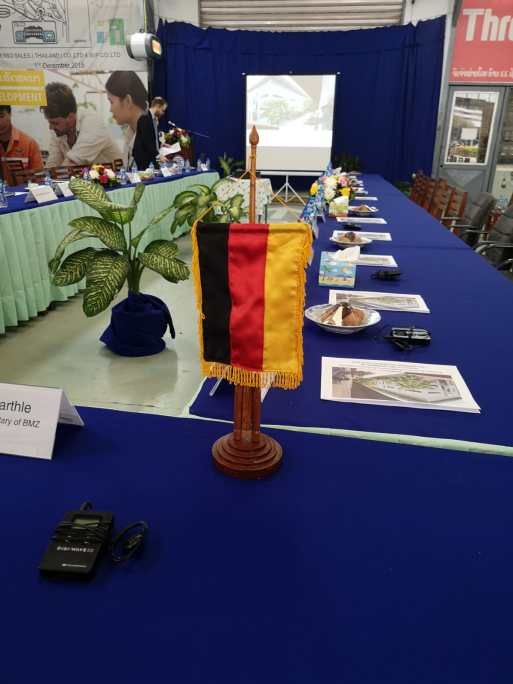...such as the visit of a German delegation at the Lao-German Technical College in Vientiane in February 2019.