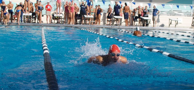 The swimming and diving team tests the waters