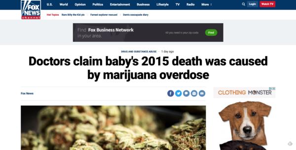 Mainstream Media Is Spreading Fake News About Marijuana Killing A Baby