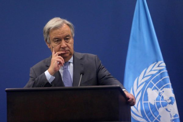 UN Chief Suggests Deploying UN-Mandated Armed Forces To Protect Palestinians