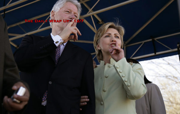 Clinton Foundation CFO Spills Beans, UN Backs Palestine Over Israel & Another Wells Fargo Scandal