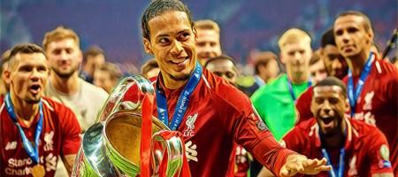 Van Dijk celebra la Champions League 2019 ganada con el Liverpool