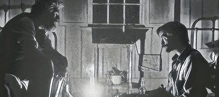 Robert Pattinson y Willem Dafoe en The Lighthouse, de Robert Eggers
