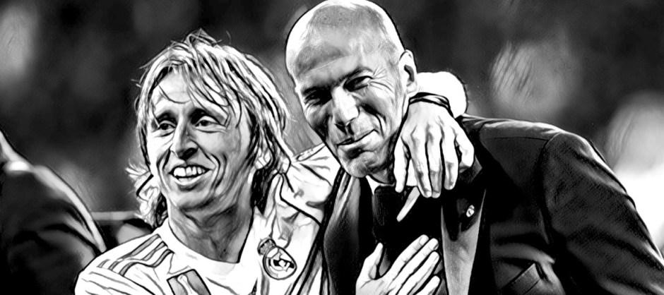 Zinedine Zidane con Luka Modric - Getty