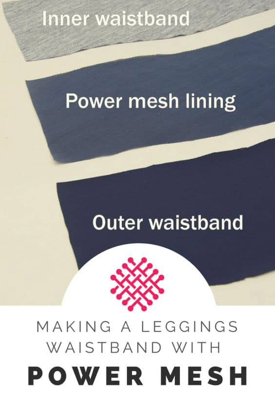 how to sew a figure shaping waistband using power mesh net Sewing Activewear