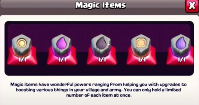 new magic items 758x401 - Sneak Peeks #2: Mercante e Bilanciamento su Clash of Clans
