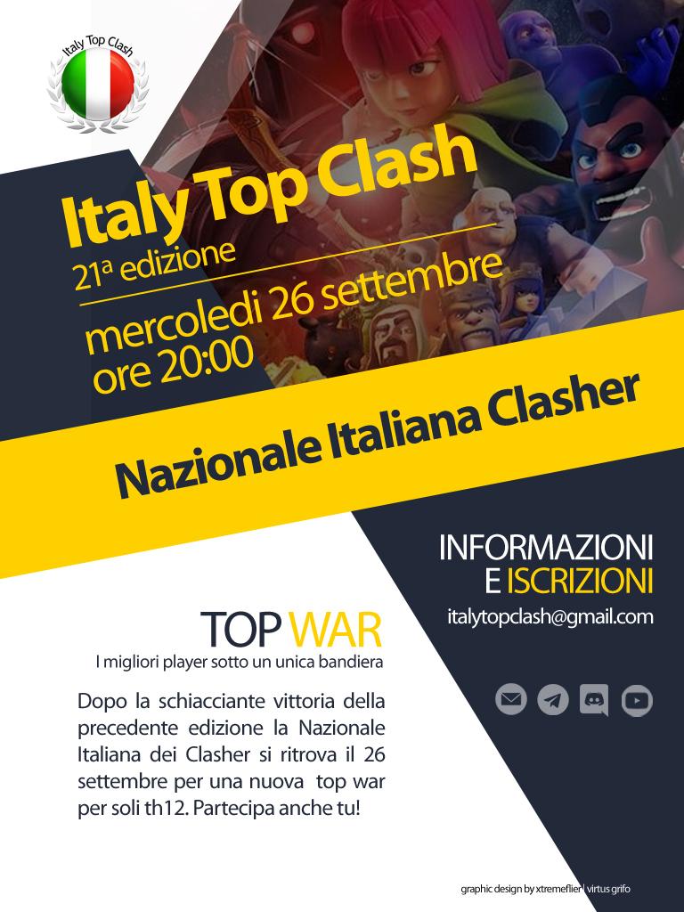 Al via la 21a edizione di italy Top Clash