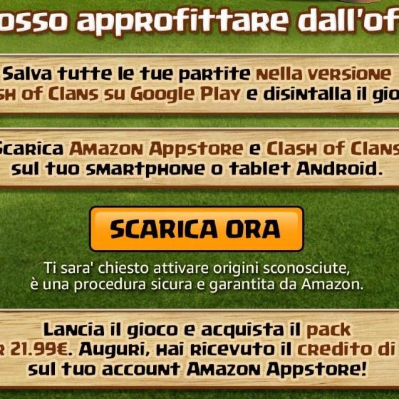 1 - Clash of Clans arriva nell'App Store di Amazon: ottieni 11€ dalle nuove promo! | TheLastWar