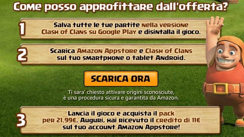 Clash of Clans arriva nell'App Store di Amazon: ottieni 11€ dalle nuove promo! | TheLastWar