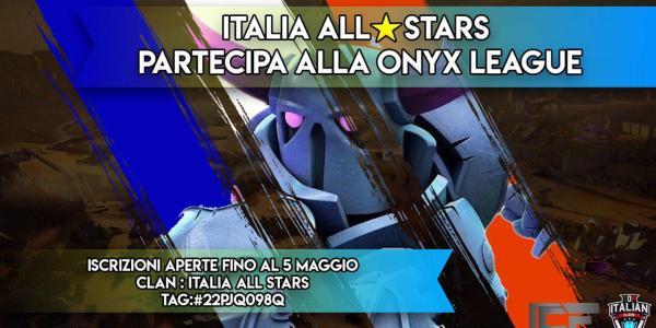 Italia All⭐Stars partecipa alla Onyx League