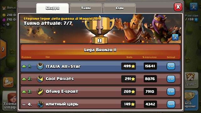 Screenshot 20190509 142519 Clash of Clans - Una Clan War Leagues brillante!