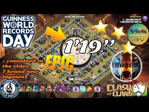 GUINNESS Attack TH13 3Stars + 8 Bases Funny February 2020
